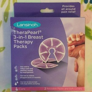 Lansinoh hot and cold packs with covers